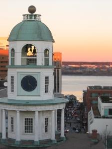 town_clock_at_sunset